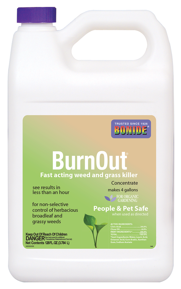 BurnOut Weed & Grass Killer, 1 gallon conc.