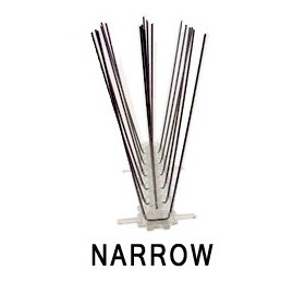 Narrow (2 in) Stainless Steel Spikes, 10 feet