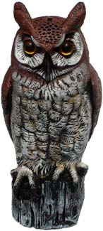 Natural Enemy Lifesize Great Horned Owl, 6/case