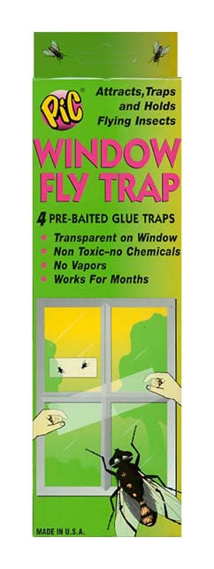 PIC Window Fly Trap, 4/pkg, 12/case