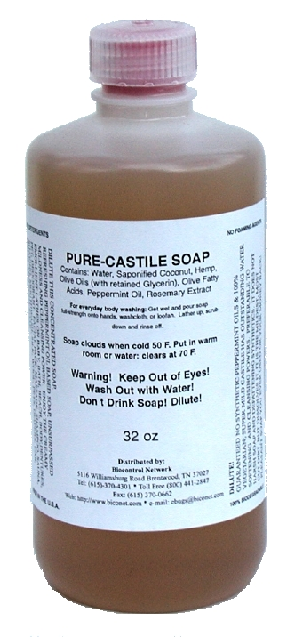 Peppermint Oil Castile Soap, 32 oz.