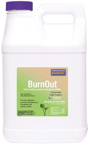 BurnOut Weed & Grass Killer, 2.5 gallon conc.