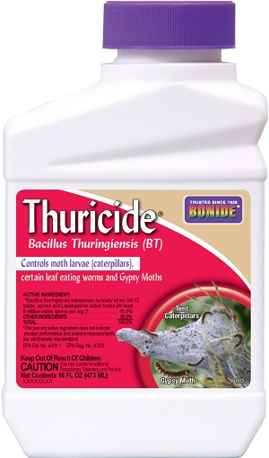 Thuricide, (Bt var. Kurstaki), 1 gallon. liquid conc.