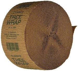 Creped Coated Paper Tree Wrap - 4 in x 150 ft, 5/case