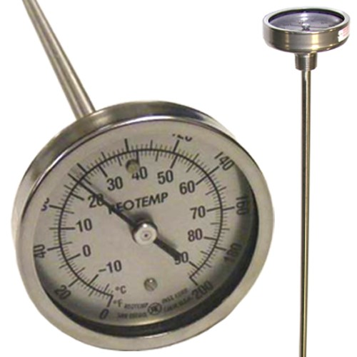 "Windrow Thermometer, 48"", 5/16 dia,  Dual Scale"